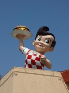 Famous icon of the Bob's Big Boy Restaurant in Burbank, CA