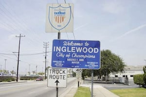The City of Inglewood in Los Angeles County, California