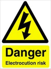 Danger Electrocution Risk
