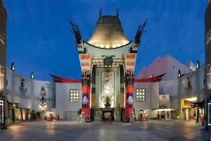 Grauman's Chinese Theatre at Night in West Hollywood, Los Angeles County, California