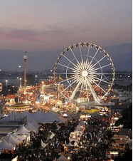 Los Angeles County Fair held yearly in Pomona (if you like giant delicious hot dogs, be sure to try them there at the fair!)