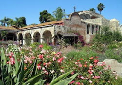 Mission San Juan Capistrano in Orange County, California – Where the Swallows return every year!