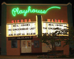 Sierra Madre Playhouse, Sierra Madre, Los Angeles, California
