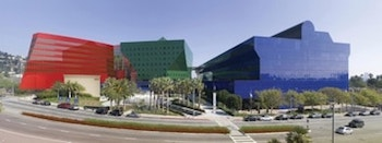 The Striking Pacific Design Centre in West Hollywood, California – Sometimes Called the Blue Whale