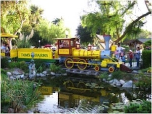 Train at Tom's Farm in Corona, Riverside County, California