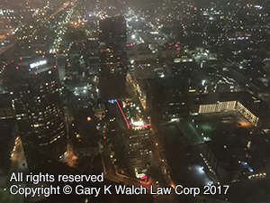 View from 70th floor of the new Wilshire Grand Tower Downtown LA